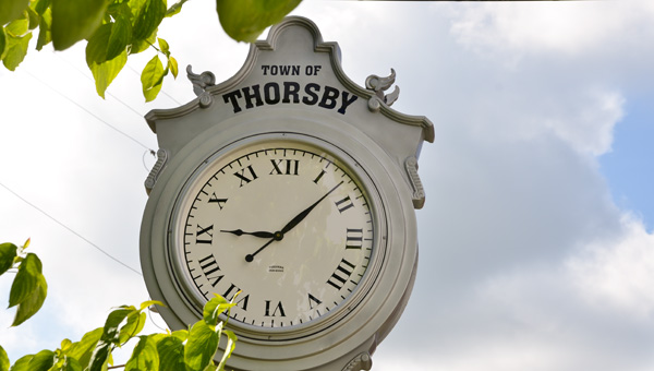 A memorial street clock in honor of former Thorsby mayor Dearl Hilyer was installed Friday at Helen Jenkins Chapel.