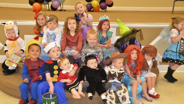 Preschool children in Jemison participated in a Halloween storytelling event Wednesday.