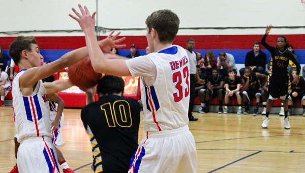 On a roll: Verbena's varsity boys basketball team has earned recent wins over Billingsley (above) and Thorsby.