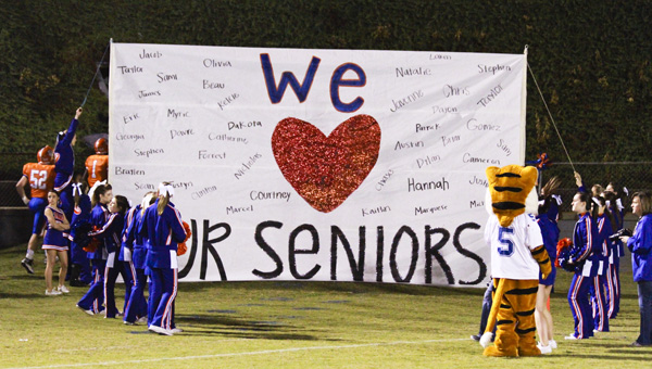 Chilton County High School held Senior Night as the Tigers hosted the Calera Eagles in the final game of the regular season.