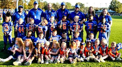 Mites champions: Clanton Blue Tigers