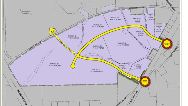 Sain Associates in Birmingham helped design the master plan (pictured) for Chilton Interstate Park.