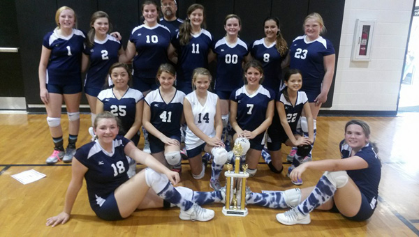 Championship squad: Jemison's junior high volleyball team won the county tournament championship. (Contributed photos)