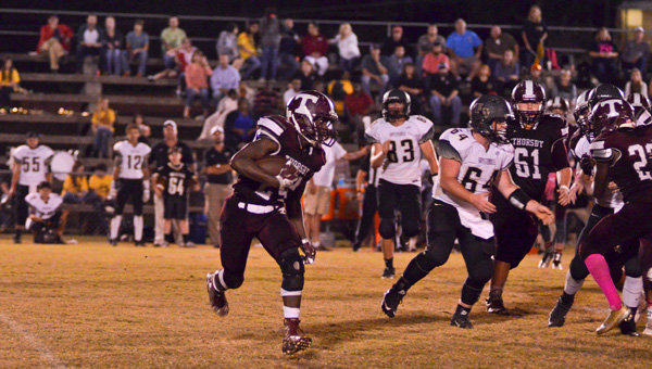 Thorsby's Kevin Mims runs during last week's game against Fayetteville. See below for more photos from games involving local teams. (Photos by Stephen Dawkins, Rachel Argo, Gary Mitchell and Brandon Sumrall)