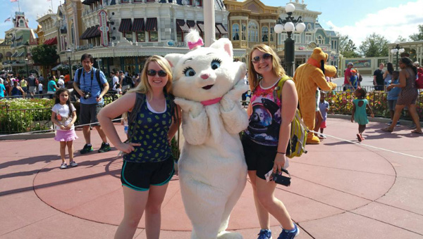 Disney magic: Lexi Tippett (right) and Savannah Cleckler enjoyed a trip to Disney World in the summer of 2015. They recently received their acceptance letters to the Disney College Program. (Contributed)