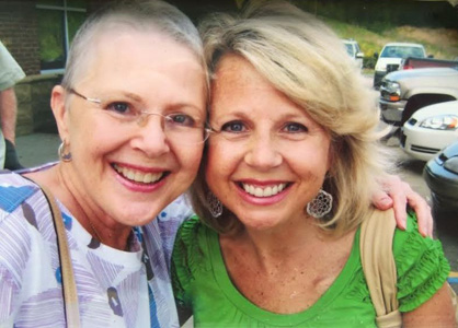 Wendy Bryan (right) helped her mother, Penny Erwin, through a battle with breast cancer after fighting the disease herself.