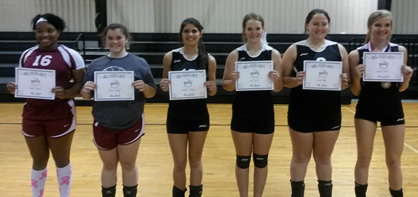 Tournament's best: The all-tournament team included Tayuna Watson and Allison Jones from Maplesville; and Makaela Littleton, Caley Booth and Brianna Tyler from Isabella. (Contributed)