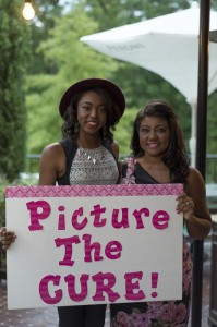 Kyra Callens (left) is pictured with Isabella High School graduate Violet Smiley (right) who is participating in a Picture the Cure contest for breast cancer awareness. (Contributed)