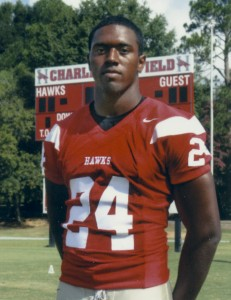 Rishard Davis, former athlete at Maplesville High School and Huntingdon College, was inducted into the Huntingdon College Athletic Hall of Fame. (CONTRIBUTED)
