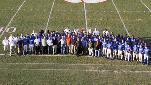 Chilton County High School celebrated the 50th anniversary of Tiger Stadium during the Oct. 16 home game against Opelika. The 1965 CCHS football team members were the honorable guests of the event. (Photos by Brandon Sumrall)
