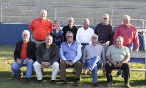 Twelve members of the 1965 CCHS football team and one member of the 1965 cheerleading squad were honored at the rededication of Tiger Stadium.