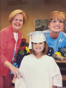 Mary Mell Smith (left) and Melinda White (right) are pictured with former student Caroline Ricks. Smith announced her retirement earlier this year from the Clanton First Baptist Weekday Education where she served as the director for the last 15 years. (Contributed)