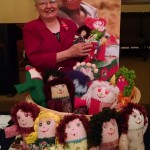 Special gifts: Judy Perkins decided to make dolls for Operation Christmas Child boxes after volunteering at the processing center in Atlanta. (Contributed)