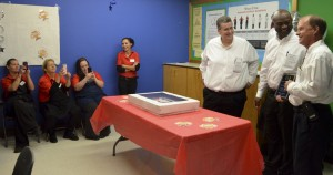 Bamberg celebrated his milestone with a surprise celebration thrown in his honor by coworkers at the store.