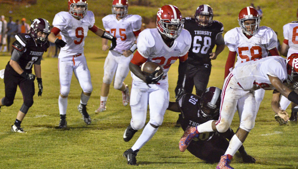 Hakeem Underwood rushed for ?? yards and one touchdown on ? carries last week against Fruitdale (File photo)