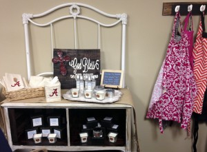 The store also offers gift options such as candles made at the Fairhope Soy Candle Company.