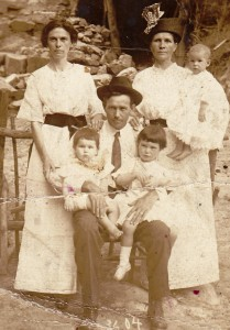 The McSwains were a well-known family in the Cooper and Clanton area. Pictured include Thad McSwain who is seated holding his daughters Louise and Mary, wife (left) Sidney Jones McSwain and sister (right) Lula McSwain Roberts holding her daughter Edna. The photo was taken in 1914 in Hot Springs, Ark. (Contributed)