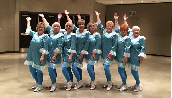First Place: The Perfect Peaches dance team in their competition attire. (CONTRIBUTED PHOTO)