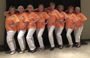Strike a Pose: Members of the Perfect Peaches dance team pose for a group photo. (CONTRIBUTED PHOTO)