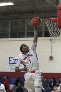 Verbena's Juwan Tyus flys high above the rim on his way to a dunk. (Photos by Brandon Sumrall / Special)