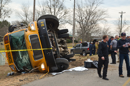 A Chilton County school bus rolled over Jan. 22, injuring 12 students but none critically. (File photo)