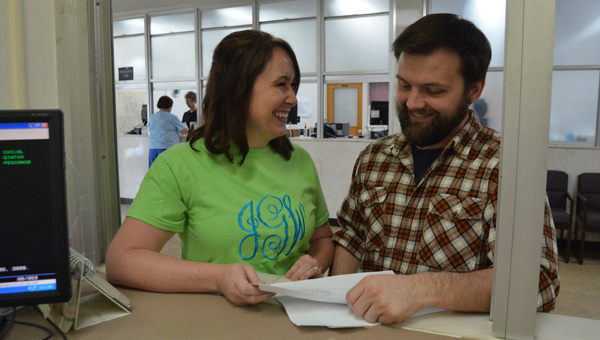 Tying the knot: Jalyn Gibson (left) and Wes Presley were among those who were married locally in the fall in what has seemingly become a growing trend.  (File photo)