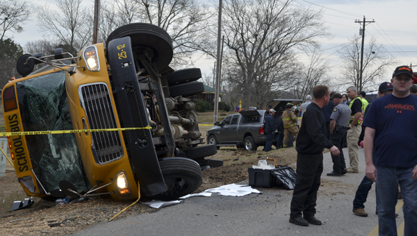 The driver of a Chilton County bus that overturned in January was sentenced this week. (Photo by Stephen Dawkins)