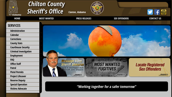 The Chilton County Sheriff's Office launched a new website Dec. 14. The website has new features including latest information regarding operations within the sheriff's department, as well as a way to locate area sex offenders. (Contributed)