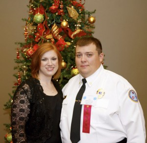 Birmingham Regional Emergency Medical Services System recognized Avery Dale as the 2015 EMS person of the year. Dale is pictured with his wife, Megan.