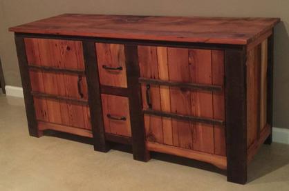 Creative mind: John Alexander creates custom pieces of wood furniture.