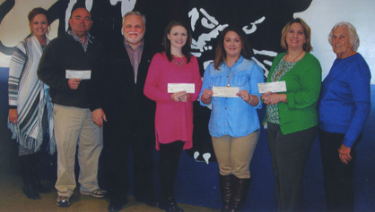 Bittle, Giles and Christy Mims along with Ken Copen ($500), Sabrina Hayes ($500), Amanda Hope ($500) and Marcia Railey ($500). A total of $5,790 was presented to teachers at Jemison schools.