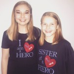 Strong bond: Abi Alexander (right) stood beside her big sister Isabelle through a difficult diagnosis.