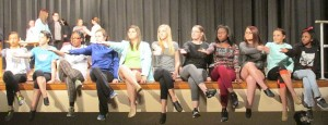 """Students participating in the 2016 Chilton County High School """"Blast from the Past"""" are working hard on the songs and dances they will perform this year. Those pictured include: Hannah Tierce, Kelsey Martin, Catherine Staffney, Shyanne Inman, Briley Atchison, Jayden Ford, Molly Desmond, Damya Ware, Savannah Martin, Maggie Zuelzke and D'Mirial Hughley."""