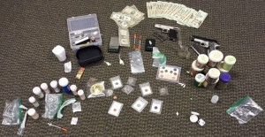 Authorities seized drugs and drug paraphernalia from a residence in Jemison on Feb. 10 after executing a search warrant for the home.  (Contributed photo)