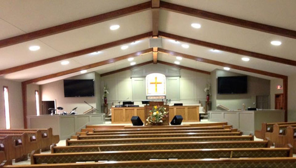 Renovations were recently completed to the interior of Thompson Chapel Assembly of God's sanctuary in Jemison. (Contributed Photo)