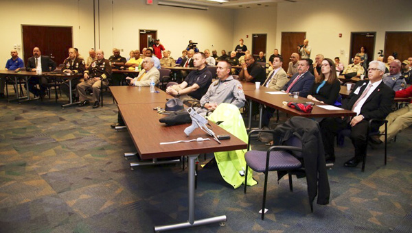 Sheriffs offices from across the state and other law enforcement agencies met at Alabama Power in Clanton to go over details and the importance of Project Lifesaver. (Contributed)