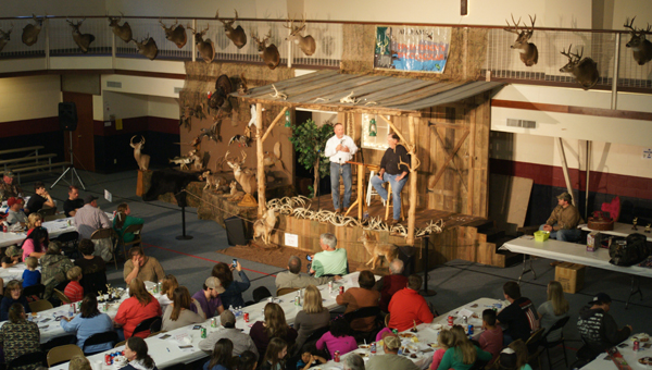Singing duo Hawkins Ridge perform on the stage during last year's Sportsmen's Spectacular at Liberty Hill Baptist Church. (Contributed Photo)