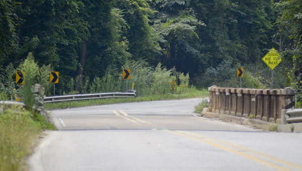 Ten bridges in Chilton County, included this one on Highway 155 in Jemison, are planned to be replaced. (File Photo)
