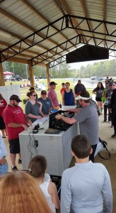 The weigh-in area was a popular place for both fishermen and spectators during the Maplesville Athletic Club Fishing Tournament on March 26. (Contributed Photos)