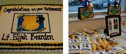 Retirement celebration: About 35 people attended a celebration in honor of Bearden at Clanton City Hall and were treated to food, cake and more.