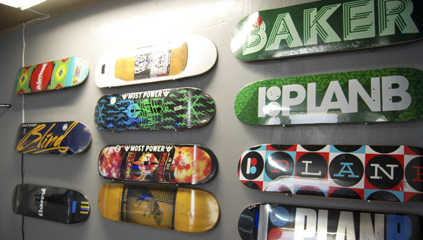 Deadman Skate Shop looks to increase its selection of brands name skateboards. (Photo by Anthony Richards / Advertiser)