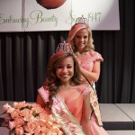Hannah Tierce (front) was crowned 2016 Miss Peach Queen last week by Kendal Elijah and now turns her attention to representing Chilton County. (File Photo)