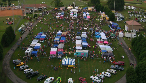 Packed park: The annual Peach Jam Jubilee brings thousands of attendees to Clanton City Park.