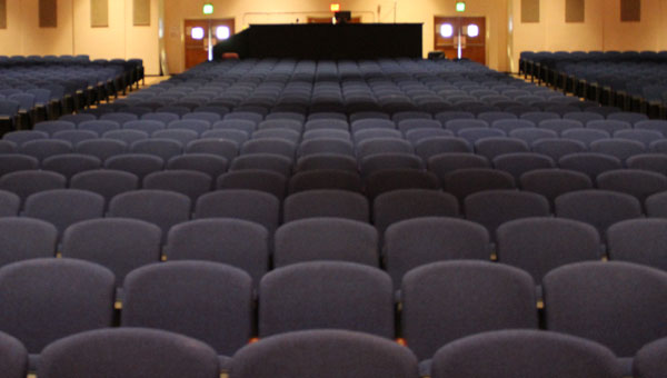 New seating in the CCHS auditorium. (Photo by Steven Calhoun)