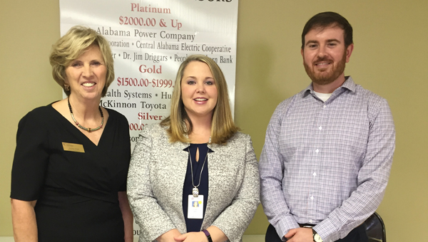 St. Vincent's Chilton Administrator Suzannah Campbell, center, was the guest speaker at the Chilton County Chamber of Commerce luncheon on Nov. 1. Campbell is shown with Chamber Director Janice Hull and Board of Directors President Stephen Dawkins.